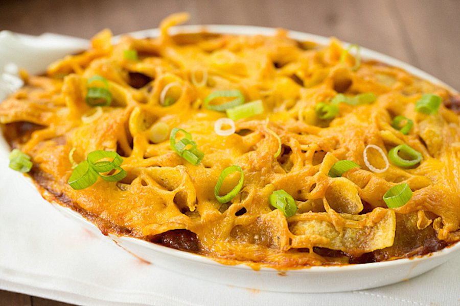 "<strong>Get the <a href=""http://www.browneyedbaker.com/frito-chili-pie-recipe/"" target=""_blank"">Frito Pie recipe</a> from Bro"