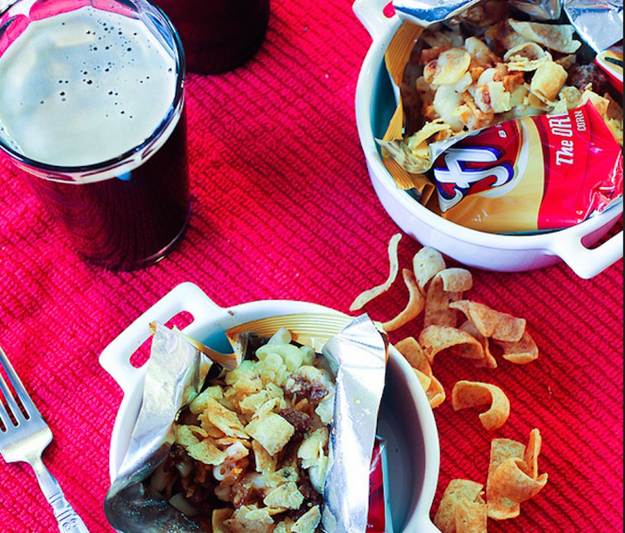 """<strong>Get the <a href=""""http://www.cravingsofalunatic.com/2012/08/frito-pie-mac-and-cheese-guest-post-by-the-girl-in-the-lit"""