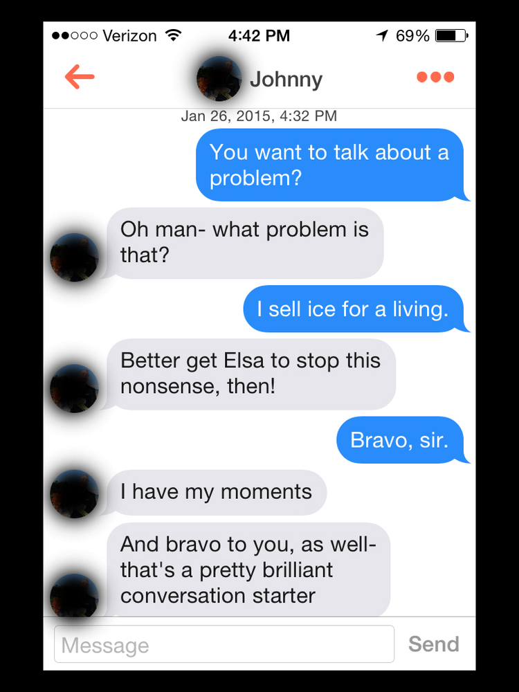 I Am Sorry Wallpapers With Quotes How Dudes On Tinder React To Frozen Pick Up Lines Huffpost