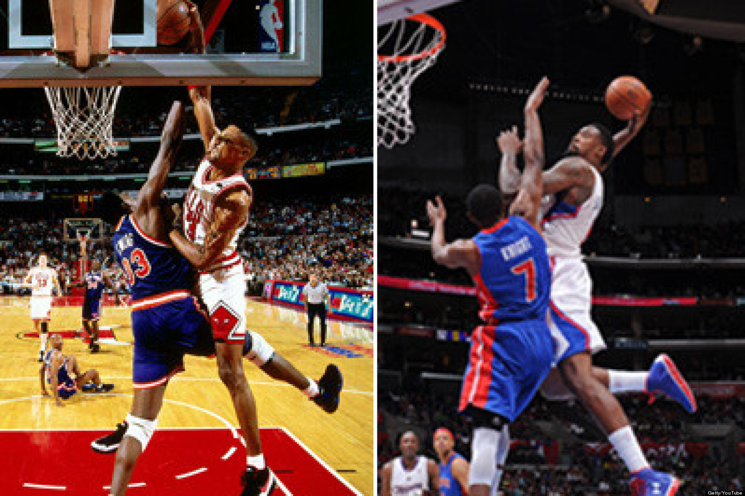Fall Be Kind Wallpaper Deandre Jordan Dunk Over Brandon Knight Joins Shawn Kemp S