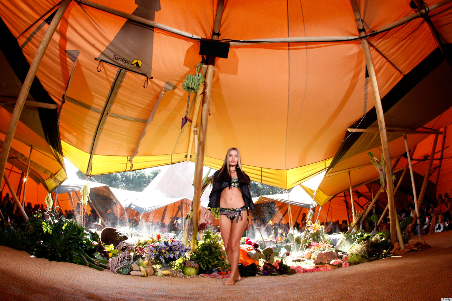Teepee Fashion Show Staged In Australia Stars Georgia May
