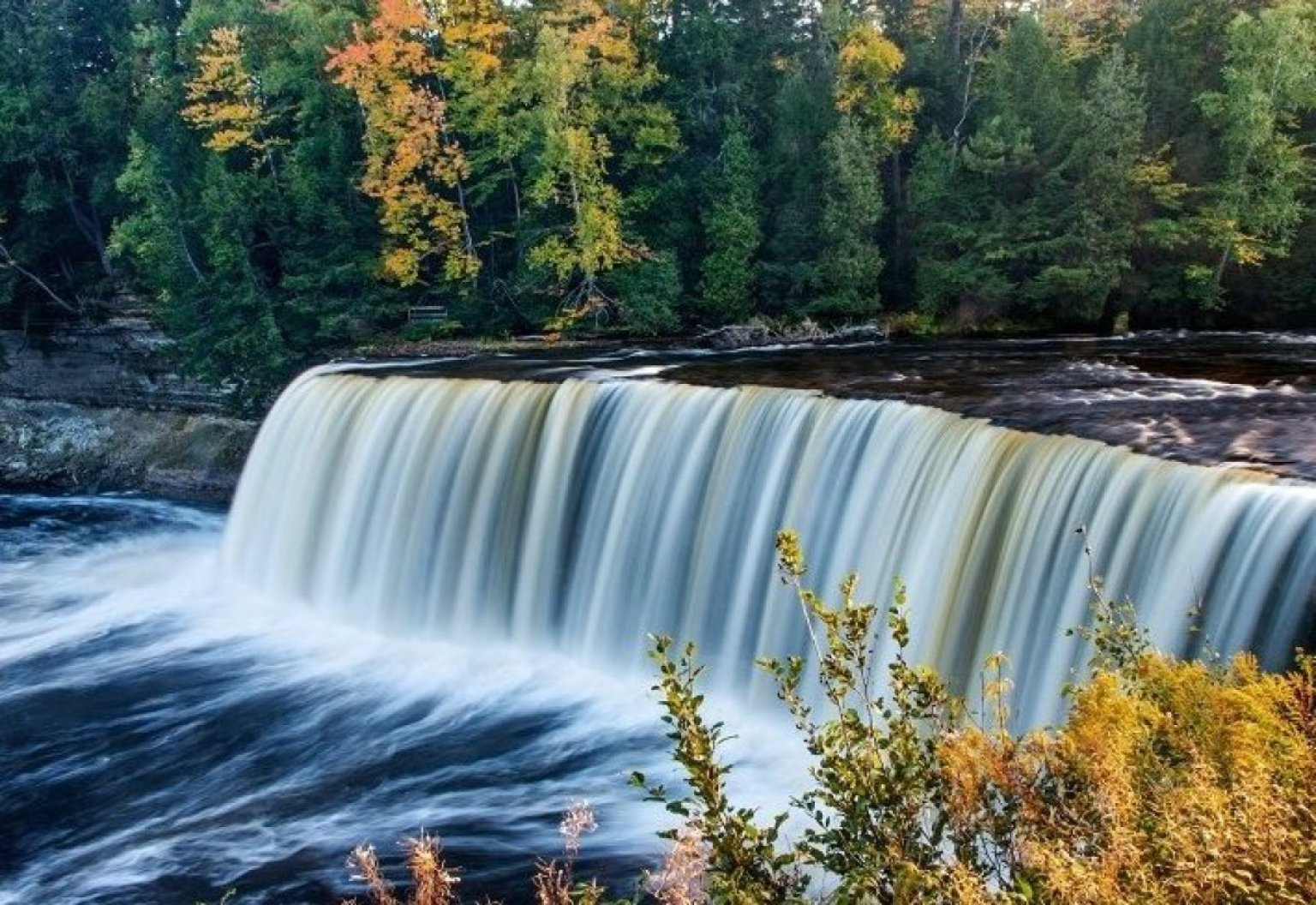 Pure Michigan Fall Wallpaper 5 Of Michigan S Most Enchanting Waterfalls Huffpost