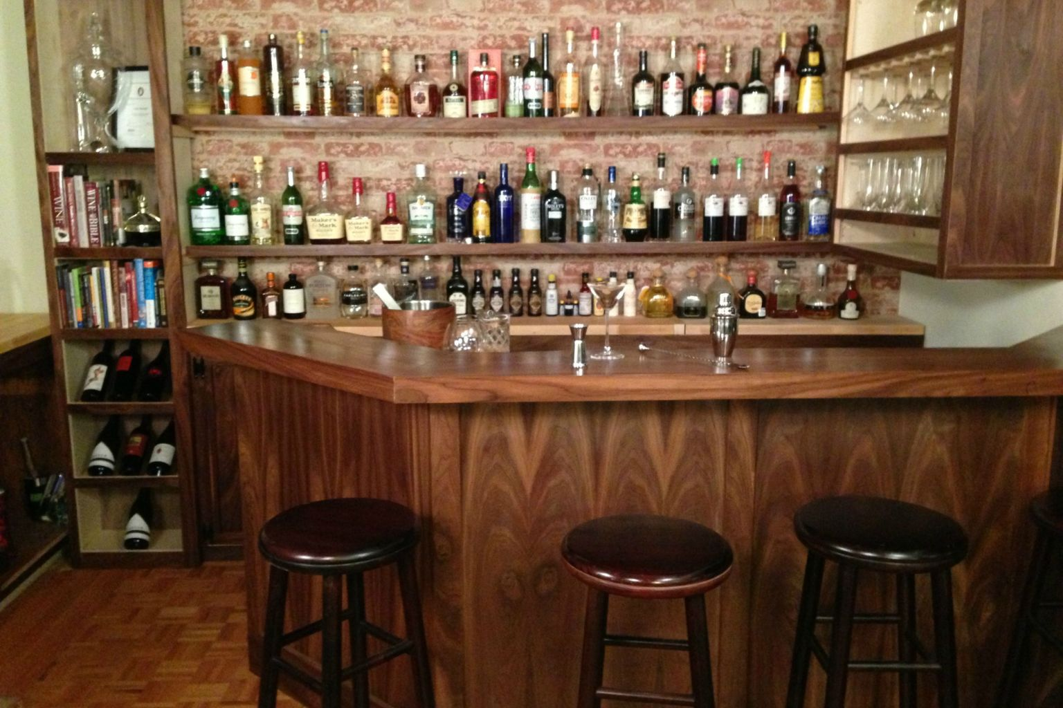 Home Bar Built By A Professional Bartender Takes DIYing To