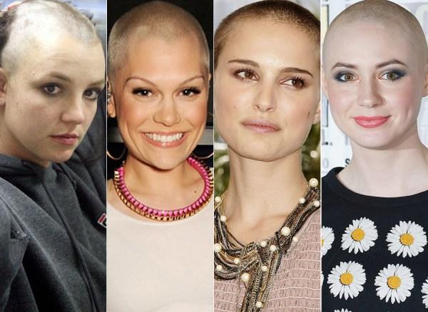 Bald Move. Britney Spears Karen Gillan 20 Female Celebs Shaved