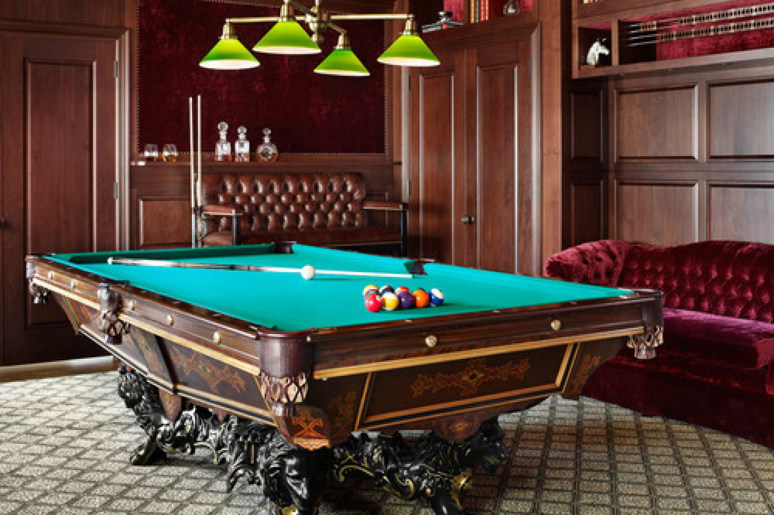 15 Homes With Amazing Pool Tables That Are Anything But An
