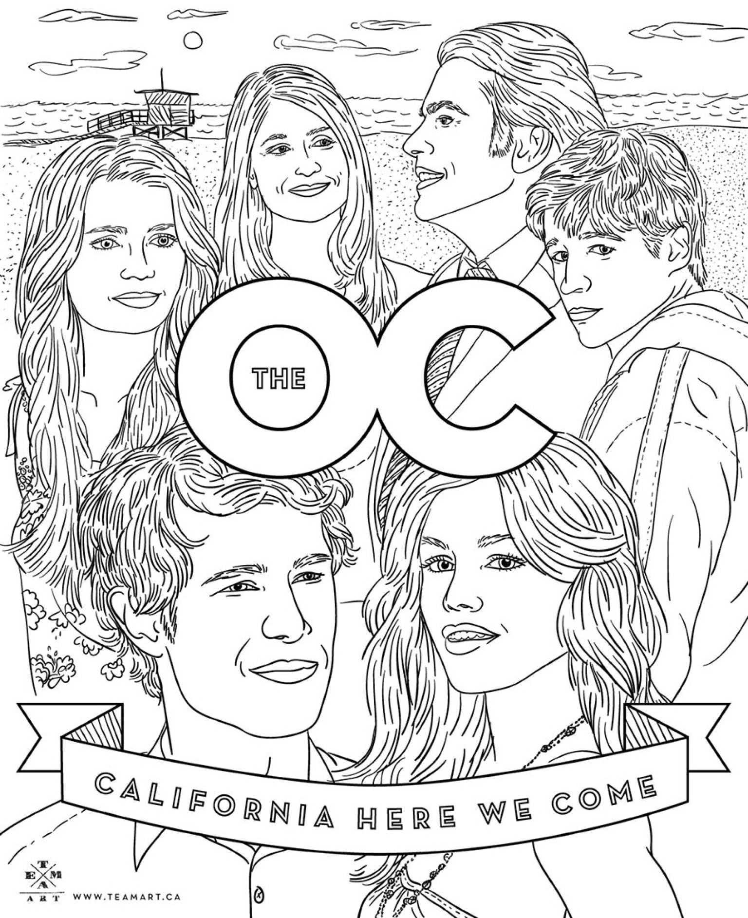 'The OC' Coloring Page: Celebrate The 10 Year Anniversary