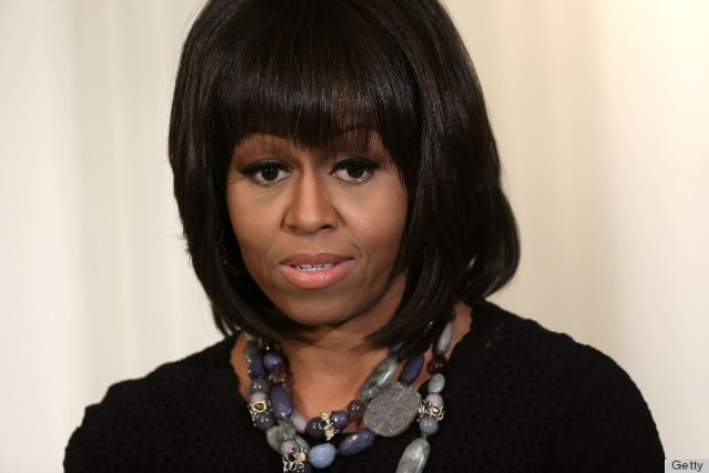 michelle obama on ditching her bangs: 'it's hard to make