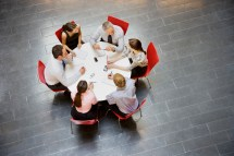 Round Table Meeting Business People