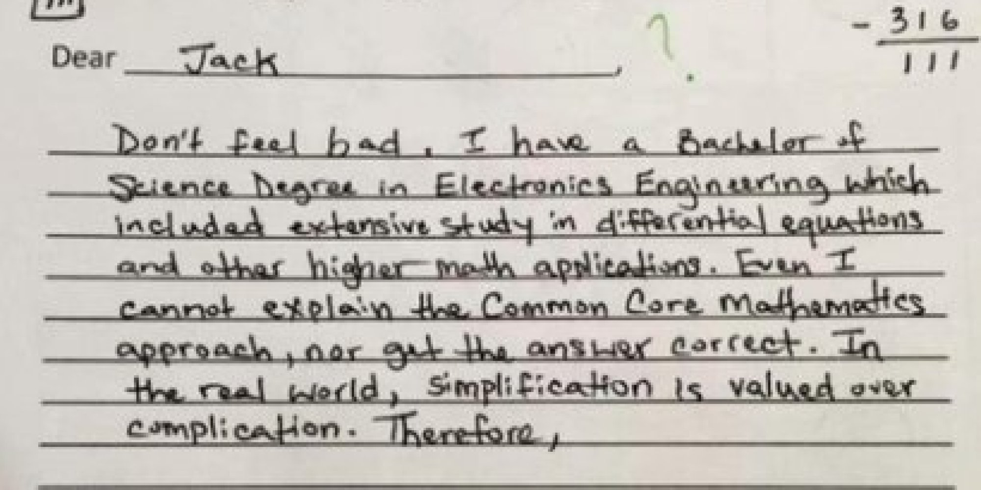 Why Is This Common Core Math Problem So Hard Supporters Respond To Quiz That Went Viral