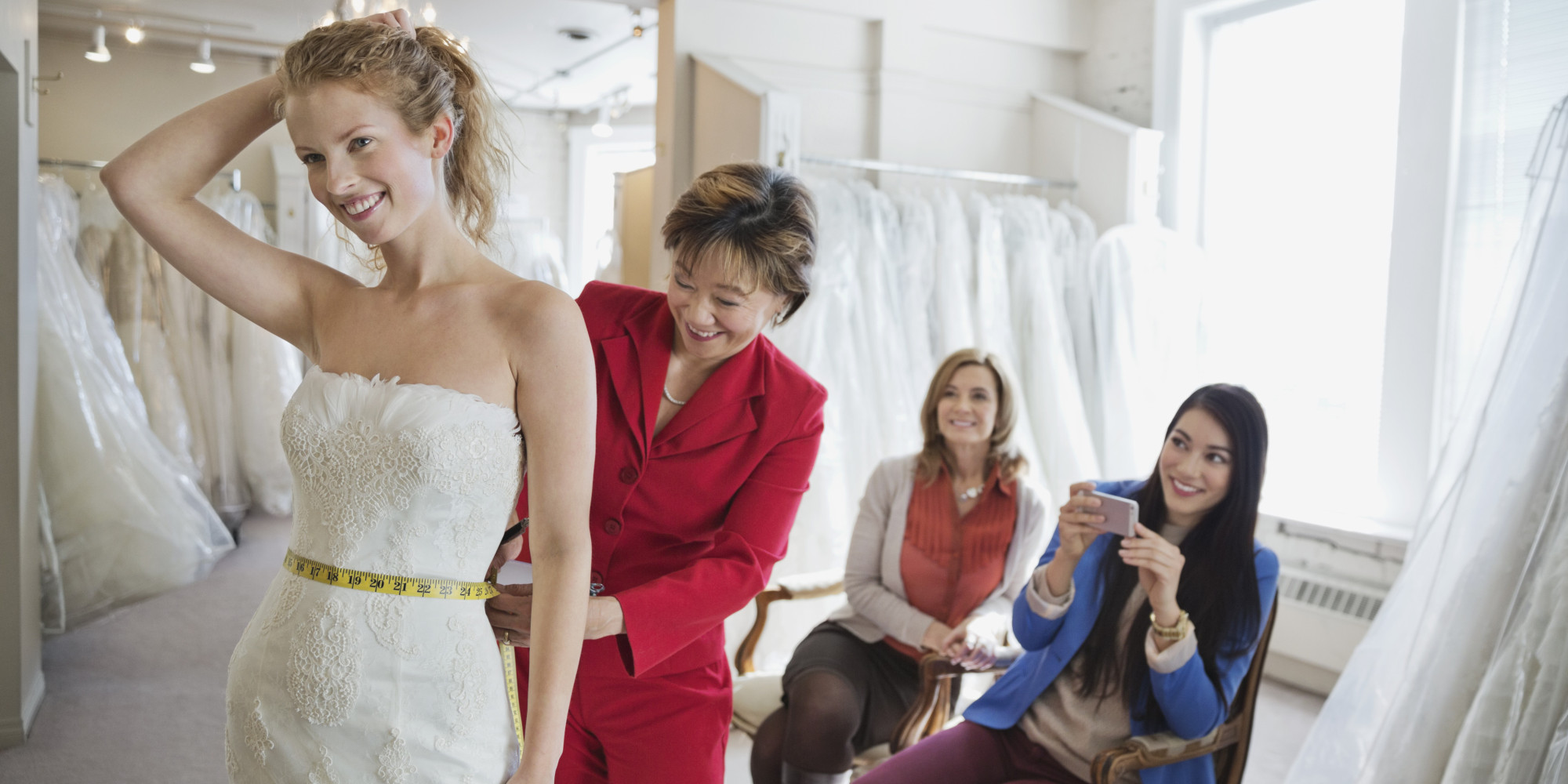 When It Comes To Wedding Dress Shopping, The Guest List Is