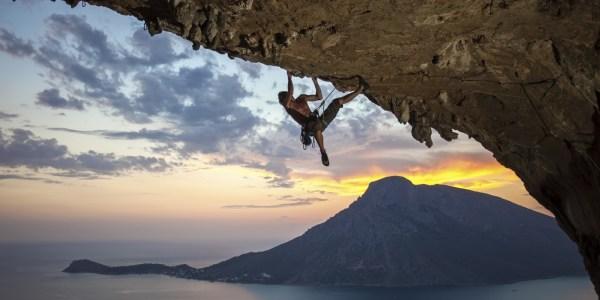 Rock Climbing Sunset