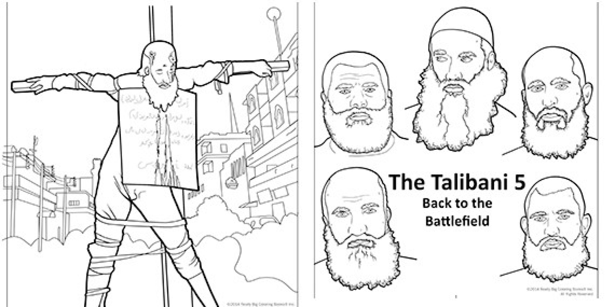 Graphic Anti-Terrorism Coloring Books Introduce Kids To
