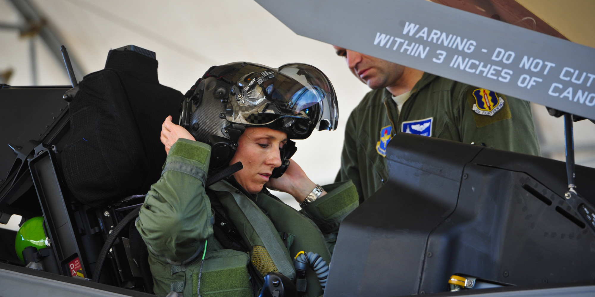 Air Force Announces First Ever Female F35 Fighter Jet Pilot Lt Col Christine Mau  HuffPost