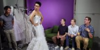 This Is What Happens When Guys Try On Wedding Dresses ...