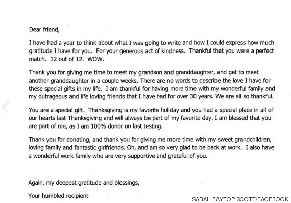 Bone Marrow Donor Receives Touching Letter Of Thanks From Stranger ...