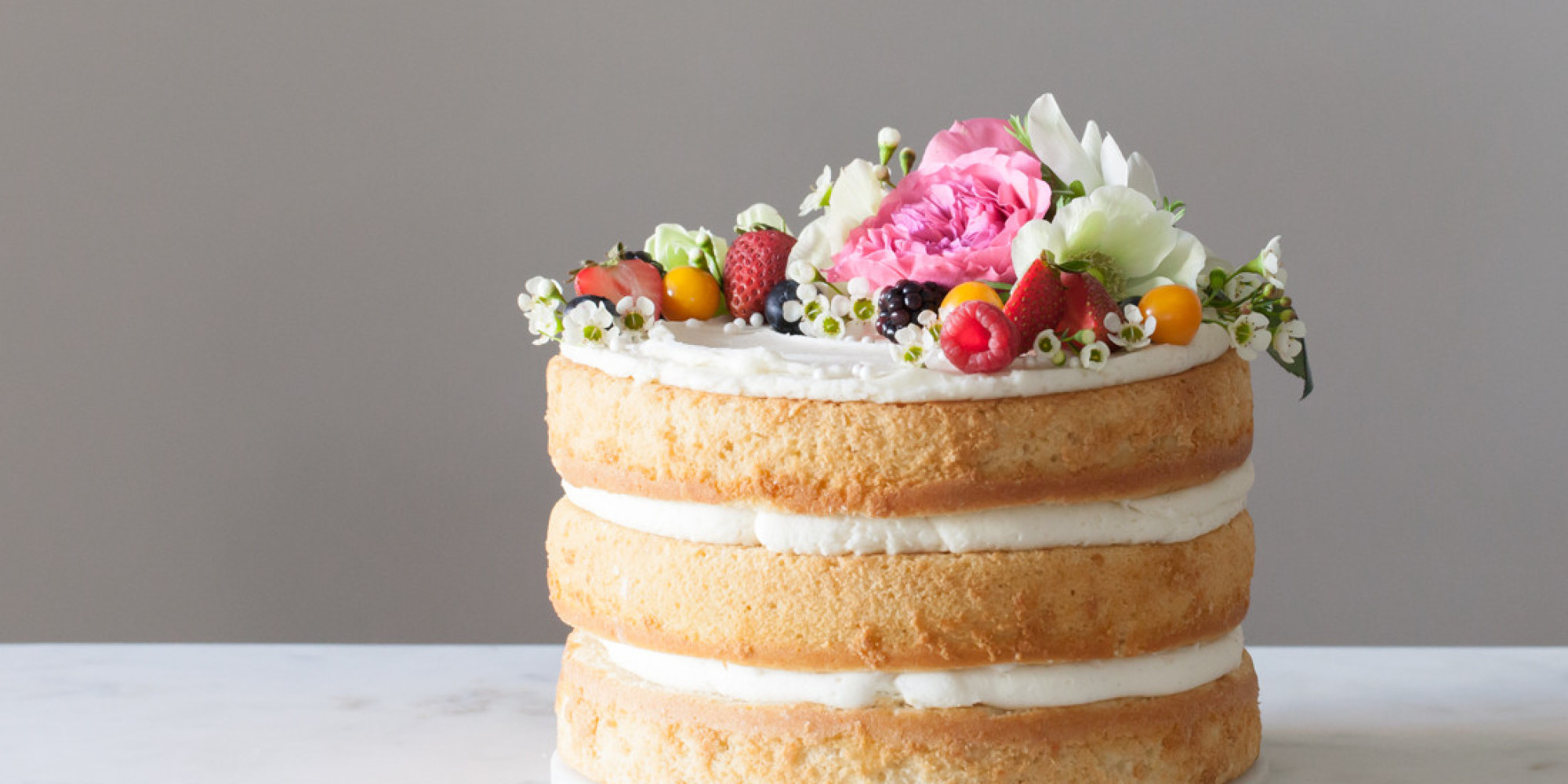 Ditch The Fondant And Make Your Own Naked Wedding Cake