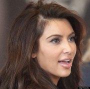 kim kardashian displays bald patch