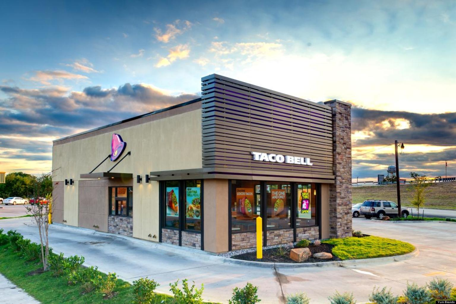 Taco Bell Redesign To Cost Less To Build Make Exterior Glow Purple  HuffPost