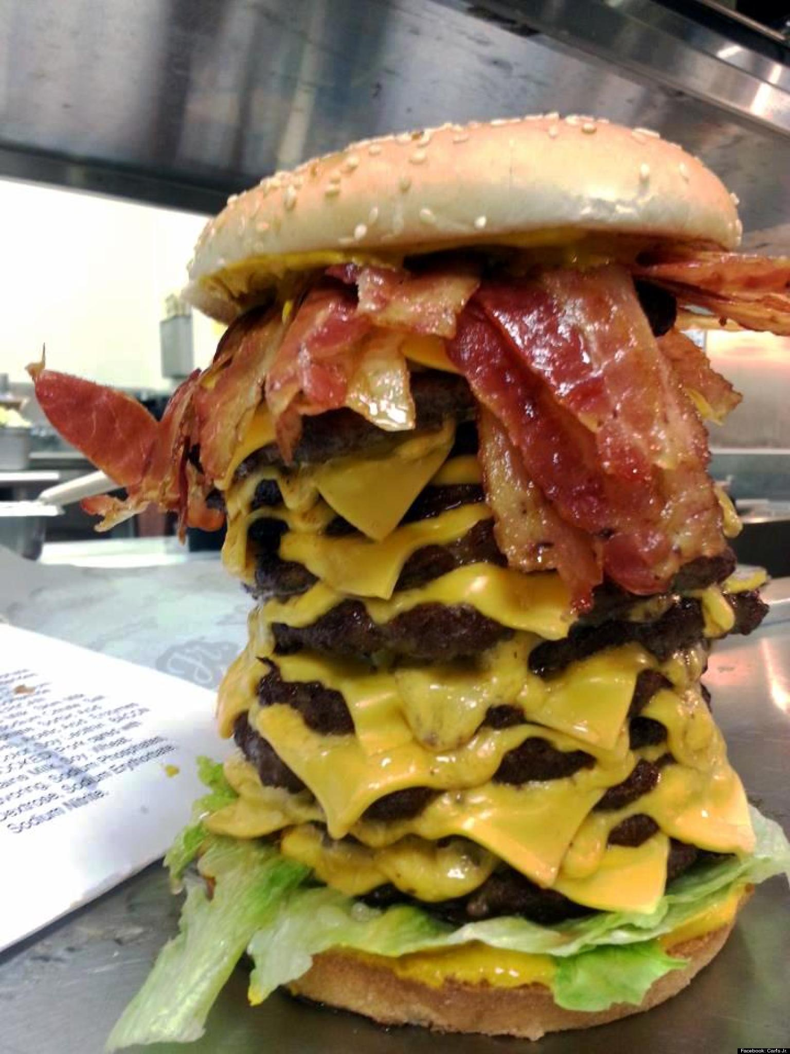 12x12x12 Burger From Carls Jr Is An Apocalyptic Wonder PHOTO  HuffPost