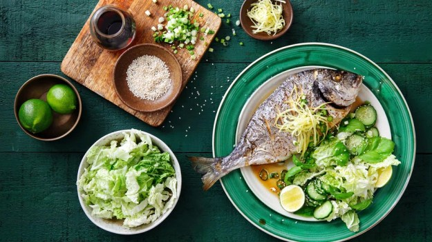 Load up on fish and leafy greens.