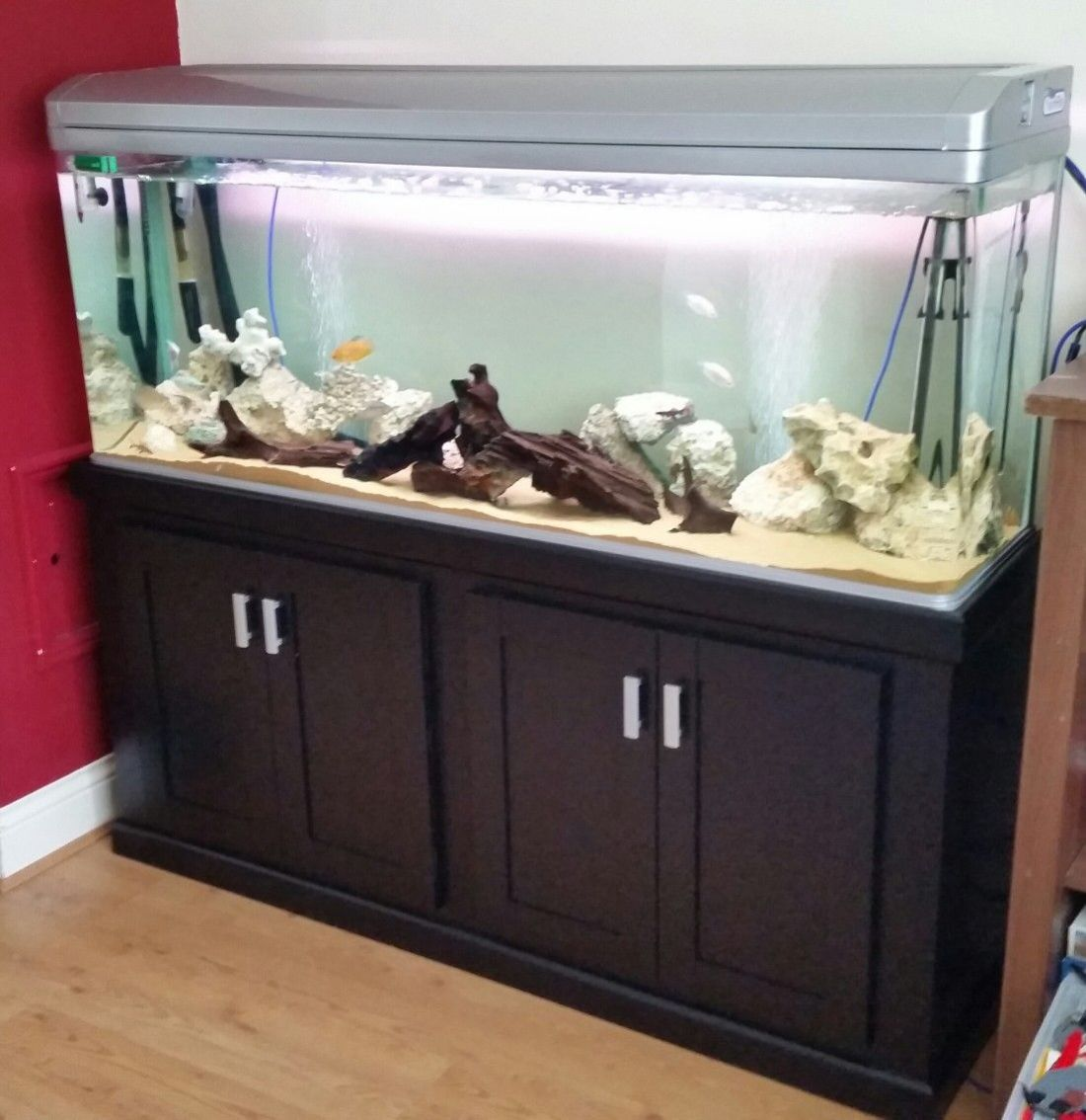 5ft all pond solutions tank with custom hand made