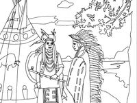 17 best images about Native Americans coloring pages on