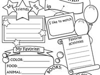 175 best images about all about me worksheet on Pinterest