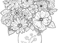 27 best images about Coloring for eldery people and