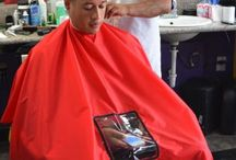 black thread products styling barber cape with phone viewing window blackthreadprod on pinterest
