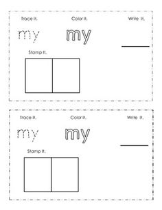 Kindergarten Sight Words List- great minus the colors