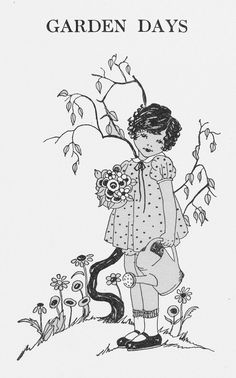 Vintage images, Clip art and Little girl illustrations on