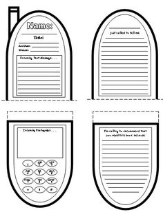 Phone books, Book reports and Book report projects on