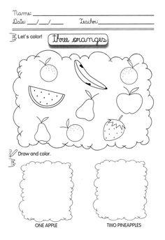 Worksheets for kindergarten, Words and Kid on Pinterest
