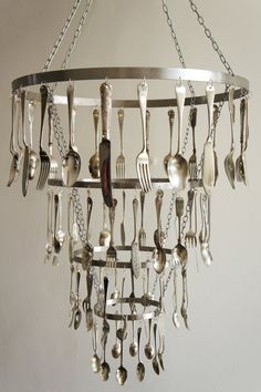 Up Cycled Cutlery Chandelier Commissioned By The Bronze Pig Lincoln Craft Pinterest Chandeliers And Pigs