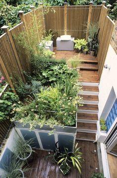 Split Level City Garden Gardens And More Pinterest City