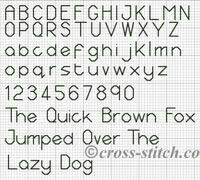 45 free cross-stitch alphabet patterns http://www