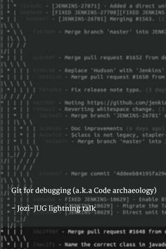 Git for debugging (a