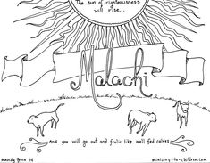 Sunday school activity about Haggai for ages 3-6: The Lord