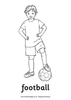 Aussie Rules football colouring page free download pdf