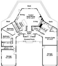 V Shaped House Plans | Floor Plans | Pinterest | House ...