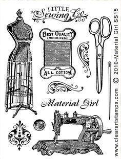 Old Design Shop ~ free digital image: vintage sewing