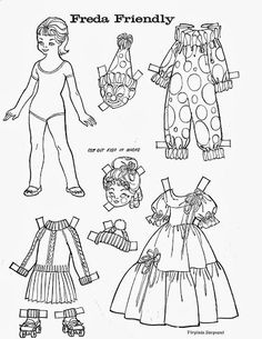 Dress up coloring pages! Traditional costumes from around