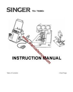 Download your copy of the Singer 778 758 Touch & Sew