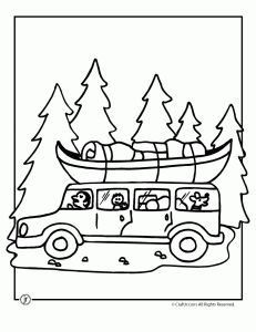 Gallery For > Camping Coloring Pages For Preschool