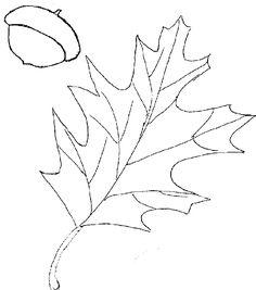 Oak leaf pattern. Use the printable outline for crafts