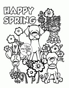 Spring Rainbow coloring page for kids, seasons coloring