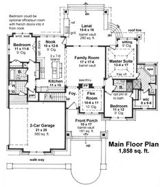 Bungalow homes, Floor plans and Bungalows on Pinterest