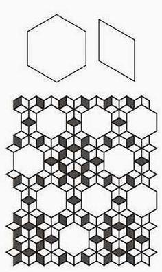 Free English Paper Piecing 8 Point Diamond Lone Star