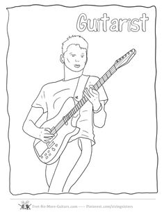 1000+ images about Guitar Coloring Pages on Pinterest