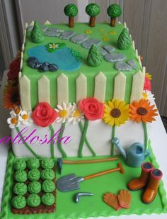 Garden Cake By Laras Theme Cakes Cakes & Cake Decorating Daily